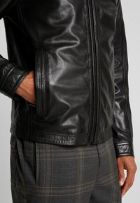 Strellson - FLAG - Leather jacket - black - 3