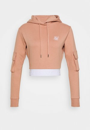 CARGO POCKET CROPPED HOODIE - Hoodie - rose