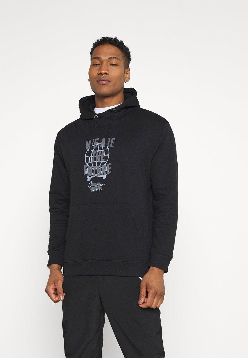 Common Kollectiv - FUTURE HOOD UNISEX  - Sweatshirt - black