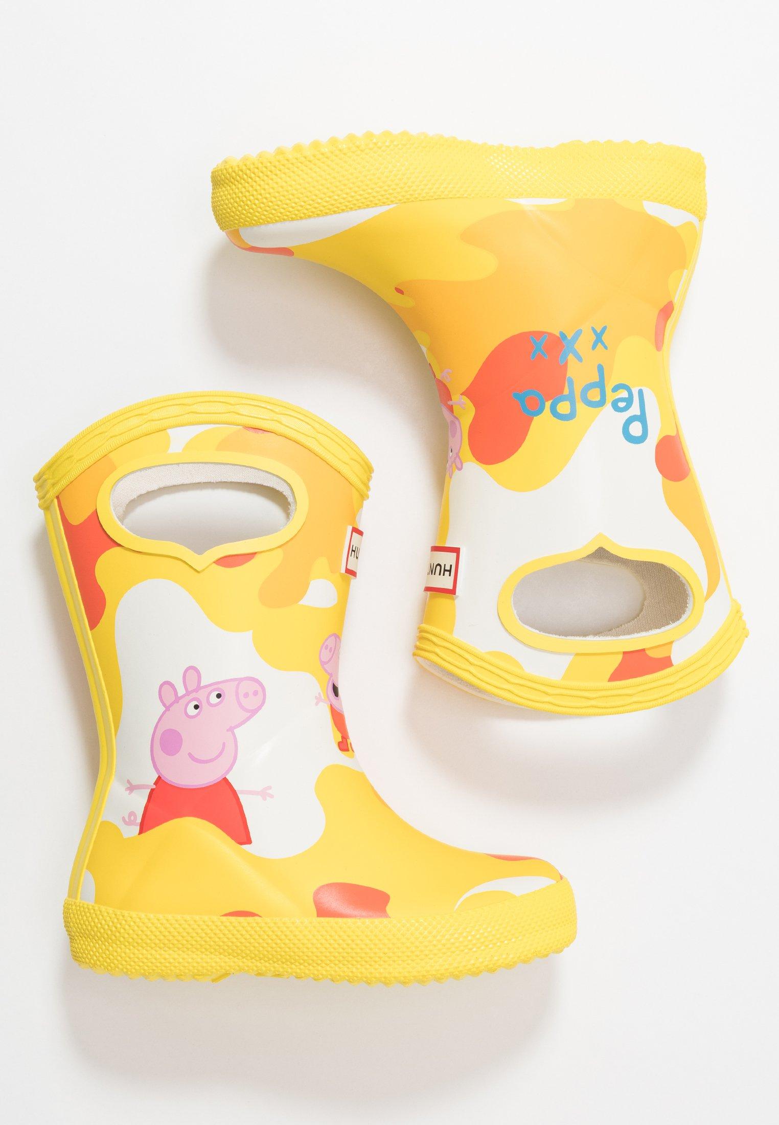 KIDS FIRST CLASSIC PULL ON PEPPA MUDDY PUDDLES BOOT Gummistövlar wader yellow