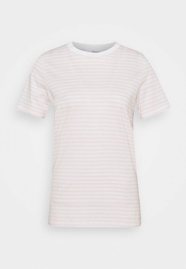 Print T-shirt - primrose pink/snow white