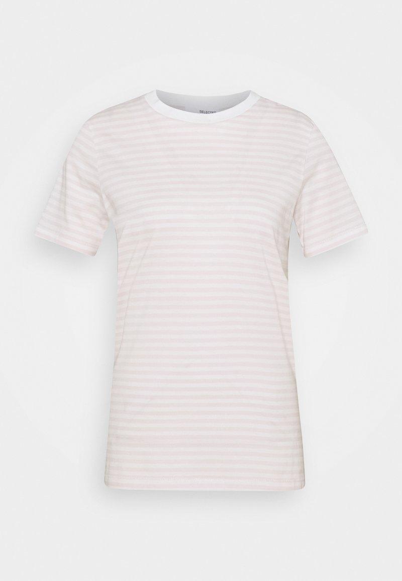 Selected Femme - Print T-shirt - primrose pink/snow white