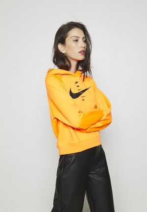 HOODIE - Jersey con capucha - total orange/black