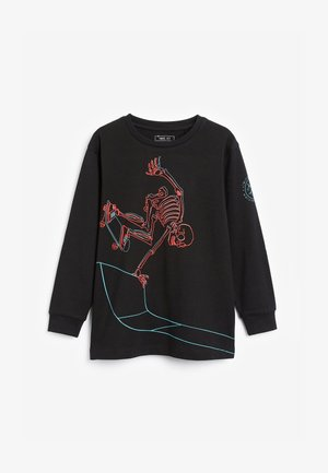 SKATING SKELETON  - Long sleeved top - black