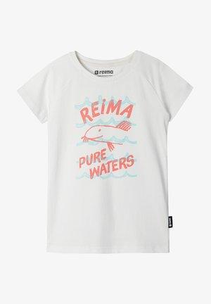 SILEIN - Print T-shirt - off white