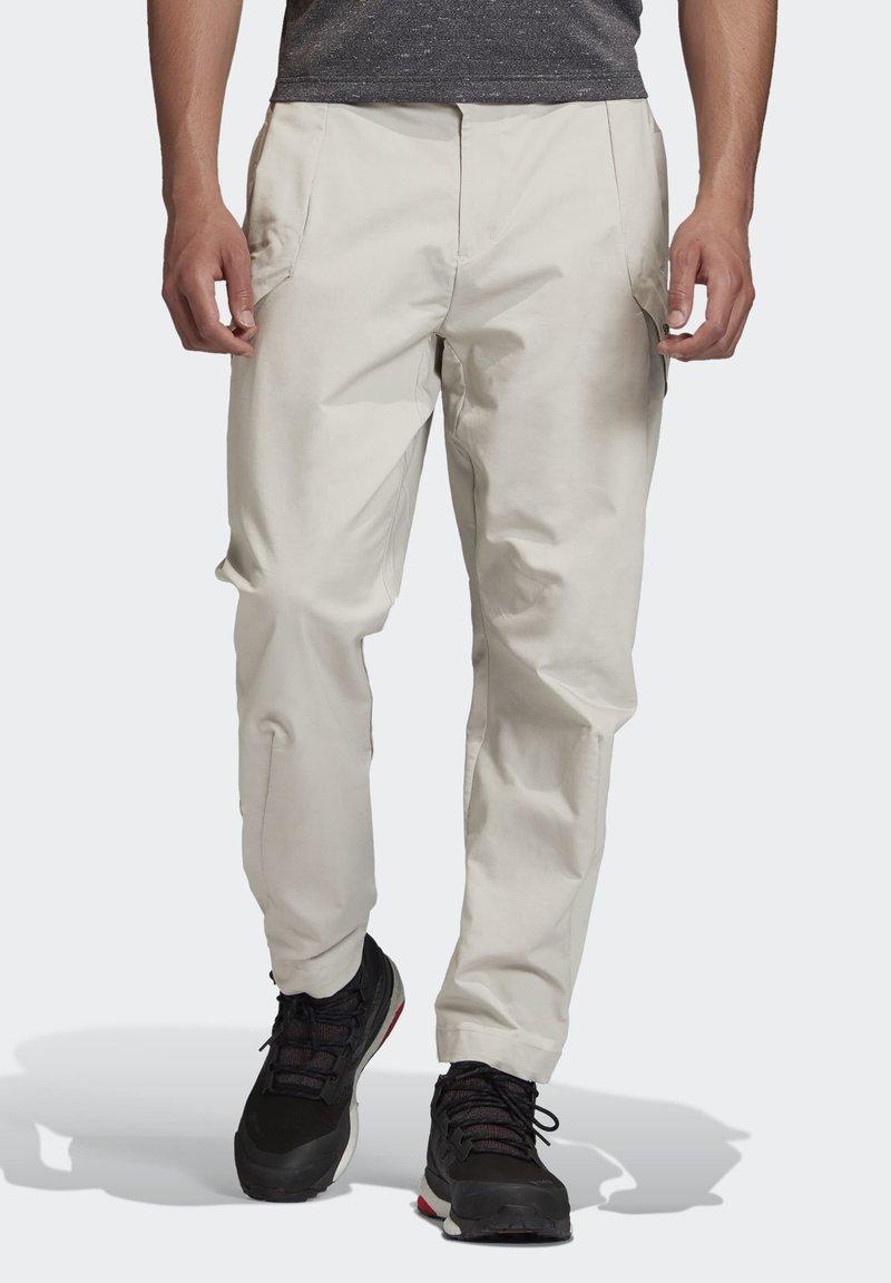 adidas Performance - TERREX HIKERELAX TROUSERS - Trousers - grey