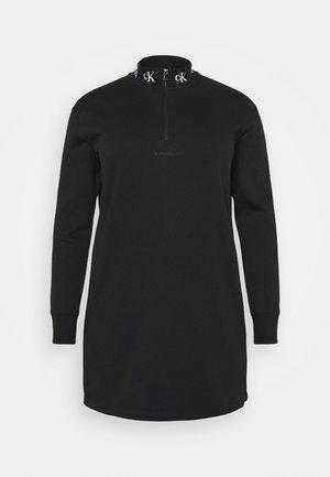 LOGO TRIM - Day dress - black