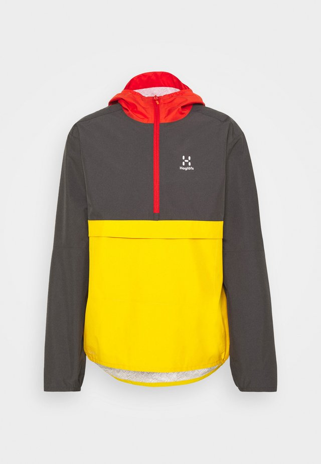 SPIRA ANORAK MEN - Windbreaker - magnetite/pumpkin yellow