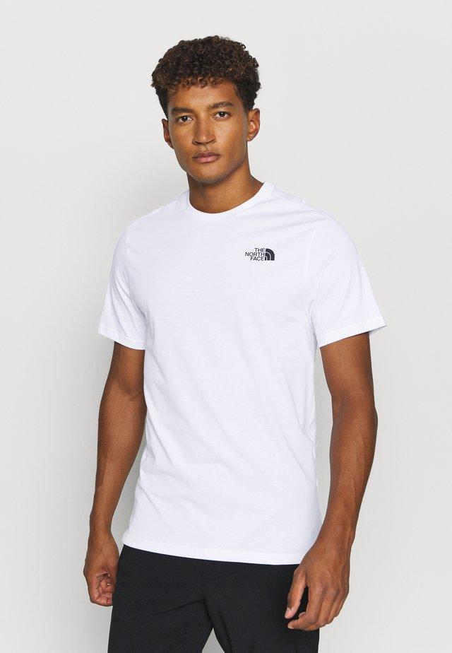 BOX TEE - T-shirt imprimé - white/hawthorne khaki/duck