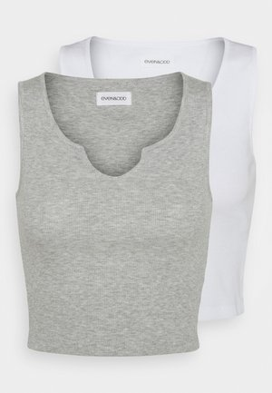 2 PACK - Top - light grey/white