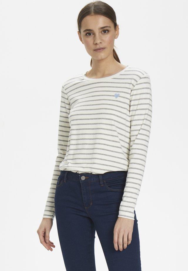 LIDDY - Long sleeved top - chalk / 50015 grey melange