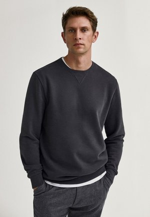 MIT KONTRASTDETAIL - Sweatshirt - grey