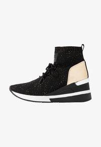 MICHAEL Michael Kors - SKYLER LACE UP  - Sneakers high - black/gold - 1