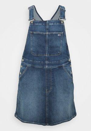 DUNGAREE DRESS  - Denim dress - blue denim