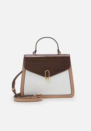 Handbag - taupe/brown/white