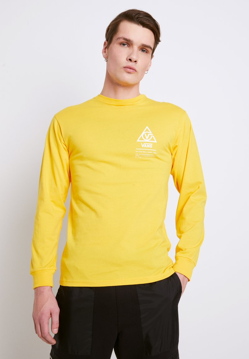 Vans - MN 66 SUPPLY LS - Print T-shirt - lemon chrome