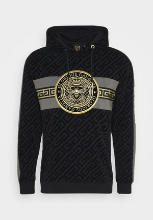 BOTERO OVERHEAD HOODIE - Bluza z kapturem - black