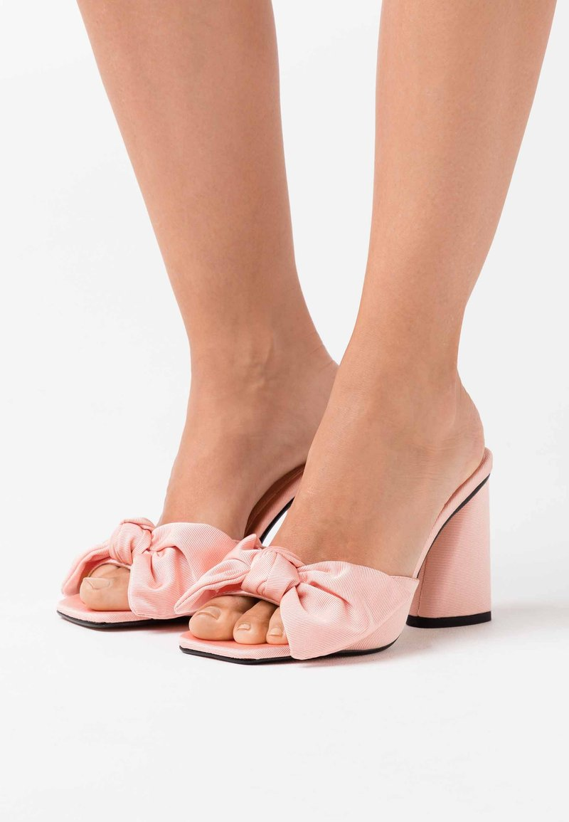 Topshop - SAUCY BOW MULE - Heeled mules - pink