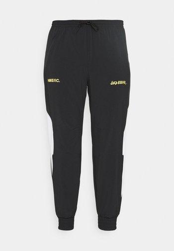 FC PANT - Pantaloni sportivi - black/white/saturn gold