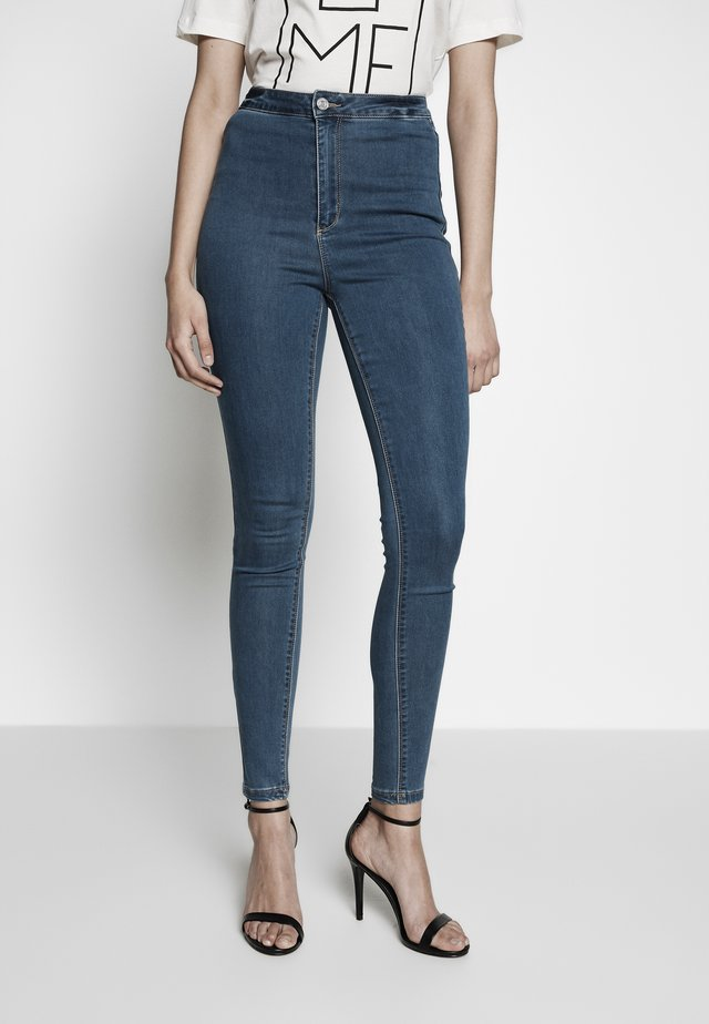 VICE HIGHWAISTED - Jeans Skinny - stonewash