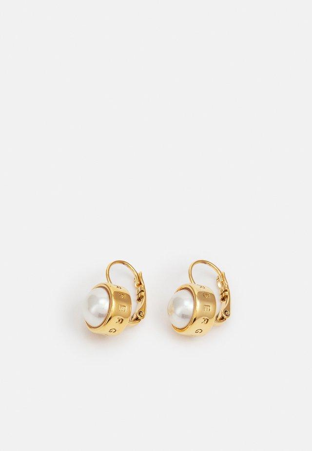 LULU EARRING - Boucles d'oreilles - gold-coloured/white