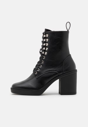 ICONIC - Lace-up ankle boots - black