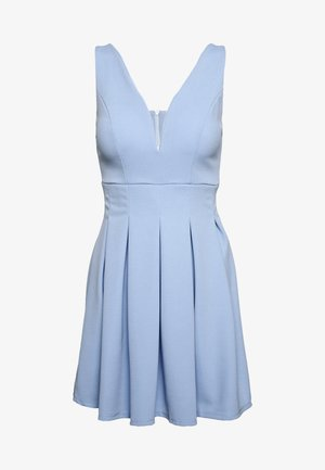EXCLUSIVE V NECK MINI DRESS - Robe en jersey - pale blue