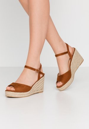 WIDE FIT DREE - High heeled sandals - tan