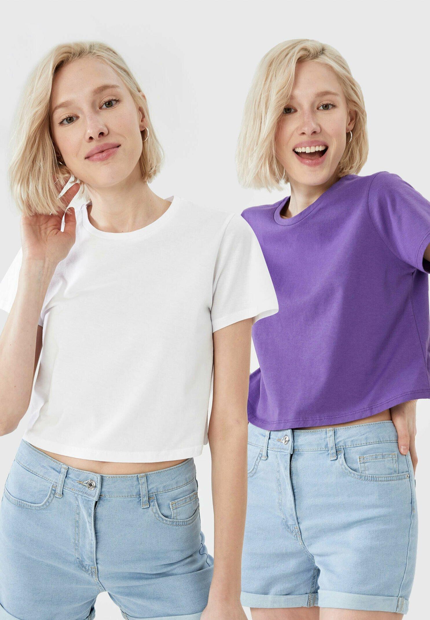 Damen 2-PACK - T-Shirt basic