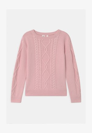 GIRL CABLE - Sweter - pure pink