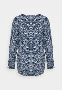 TOM TAILOR - BLOUSE PRINTED WITH TAPE - Blouse - navy blue - 1