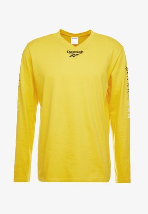 TEE - Topper langermet - toxic yellow