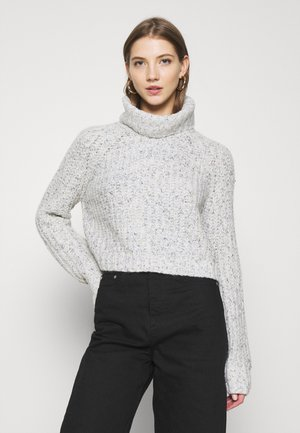 NEPPY CROP ROLL - Jumper - grey marl