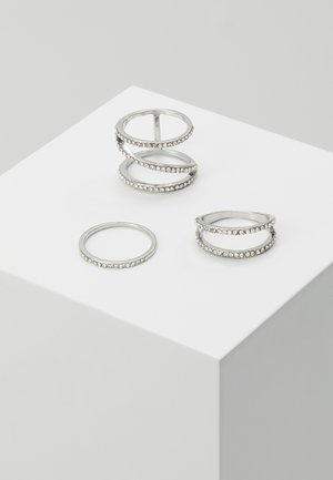 ZIGZAG 3 PACK - Ringar - silver-coloured