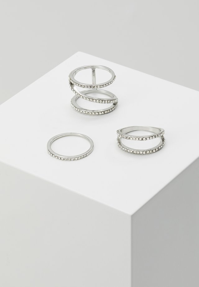 ZIGZAG 3 PACK - Bague - silver-coloured