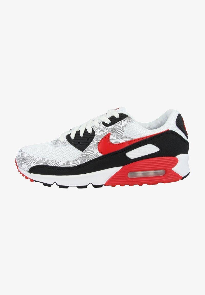 Nike Sportswear - AIR MAX 90  - Sneakers - white-black-university red