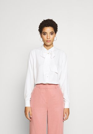 BLOUSE BOW SOLID - Bluse - off white