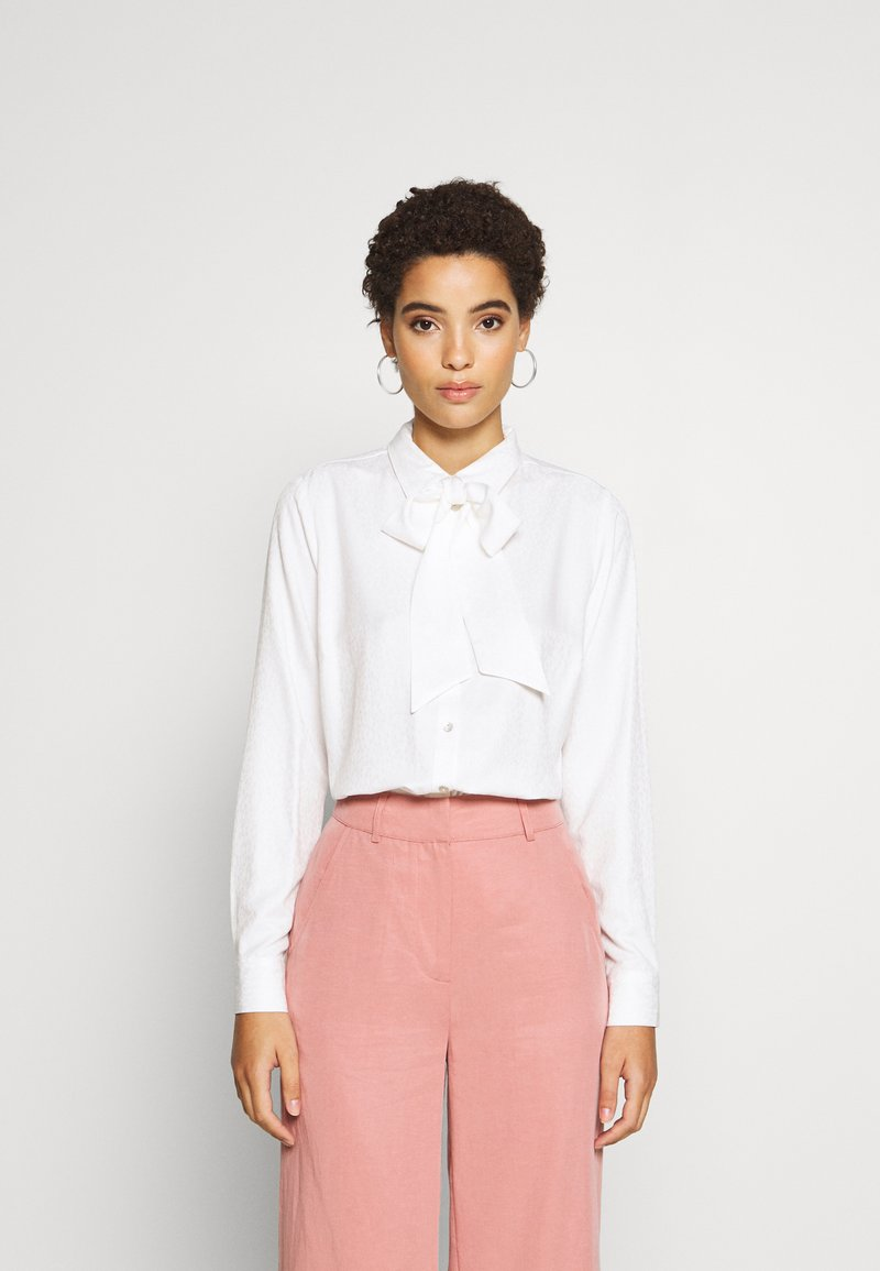 Esqualo - BLOUSE BOW SOLID - Blouse - off white