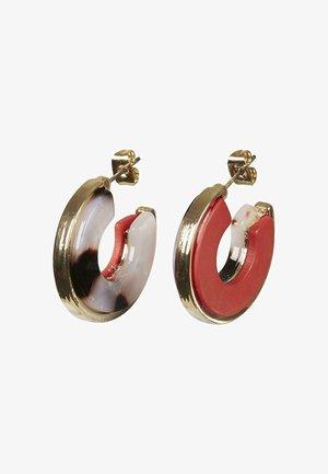 MACHIKO HALF & HALF CHUNKY HOOP  - Earrings - multi