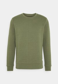 JJSTRUCTURE CREW NECK - Sweatshirt - dusty olive