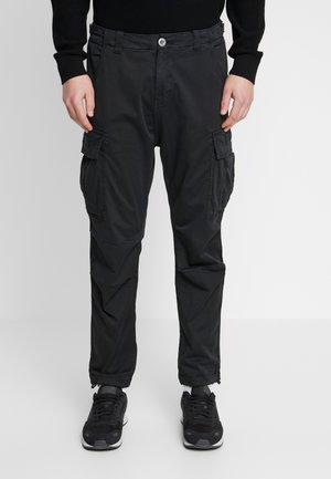 SQUAD - Cargo trousers - black