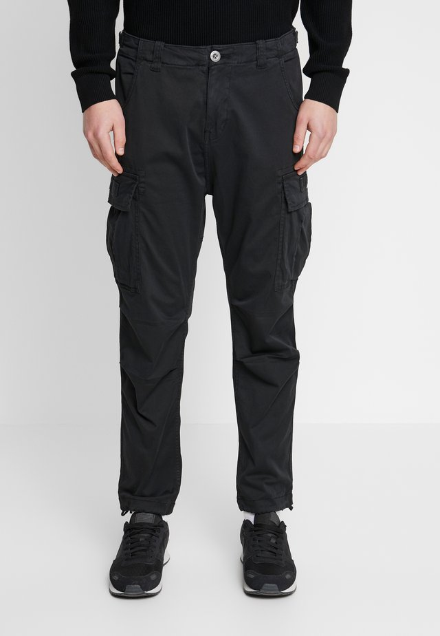 SQUAD - Cargo trousers - black