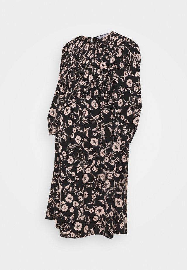 SHIRRED FLORAL PRINT MINI DRESS - Sukienka letnia - multi