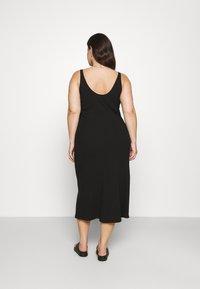 Selected Femme Curve - SLFNANNA STRAP DRESS - Jersey dress - black - 2