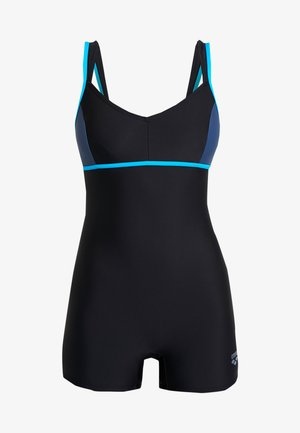 VENUS COMBI - Swimsuit - black/shark turquoise