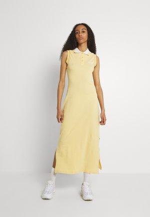 MIDI POLO DRESS - Shirt dress - yellow