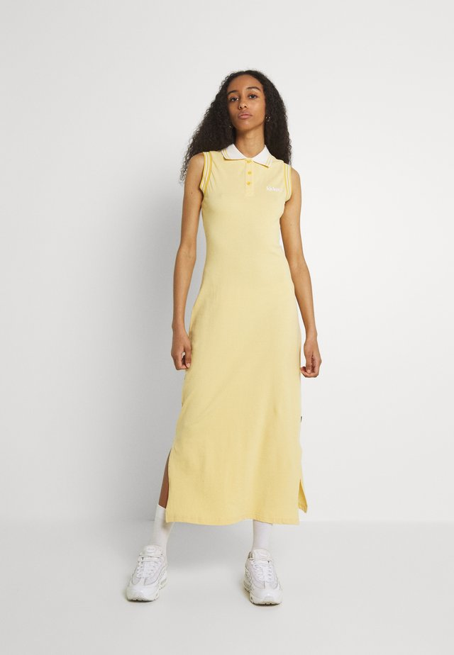 MIDI POLO DRESS - Sukienka koszulowa - yellow