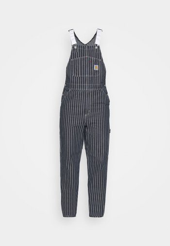 TRADE OVERALL - Relaxed fit -farkut - dark navy/wax rinsed