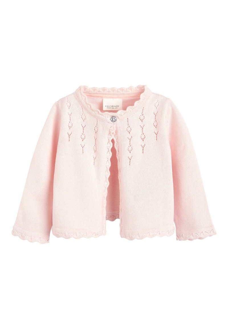 Next - PINK OCCASION CARDIGAN (0MTHS-2YRS) - Vest - pink