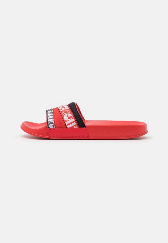 FILIPPO WEBBING - Mules - red